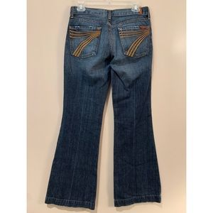 7 For All Mankind DOJO Wide Leg Flare Jeans